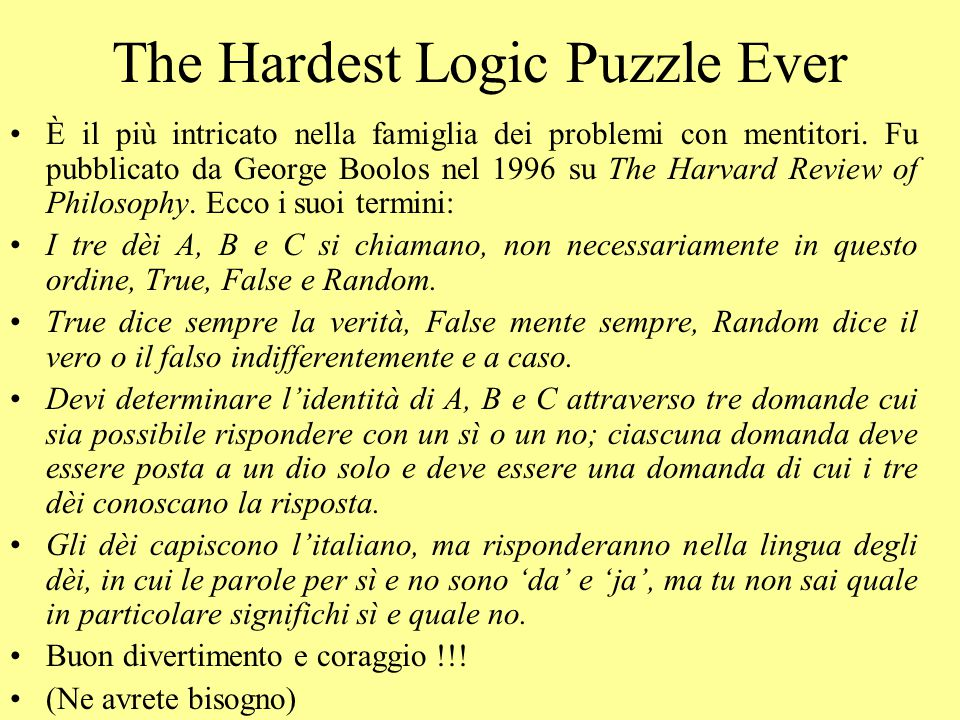 The Hardest Logic Puzzle Ever