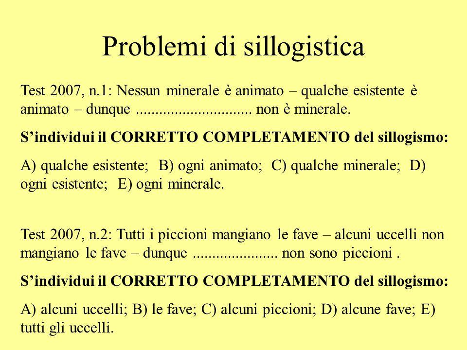 Problemi di sillogistica