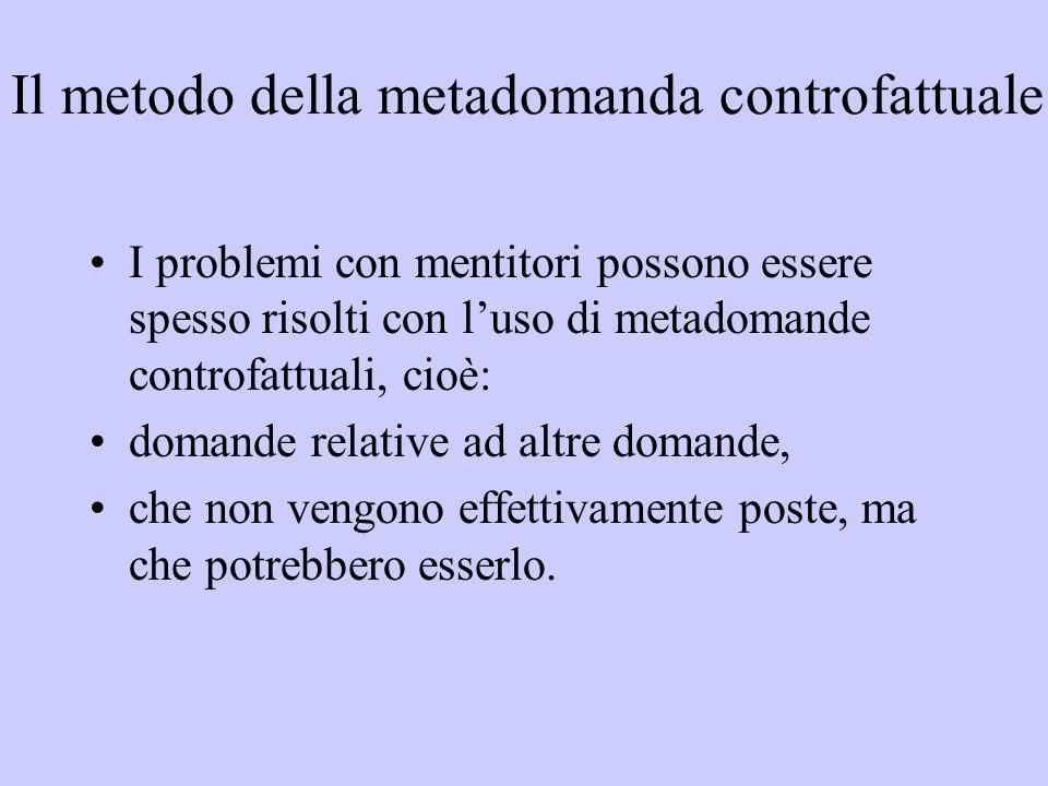 Il metodo della metadomanda controfattuale