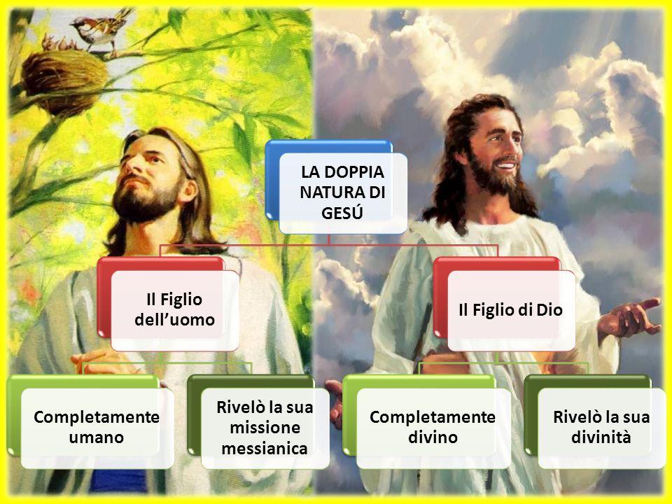 LA DOPPIA NATURA DI GESÚ Rivelò la sua missione messianica