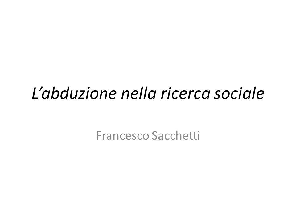 L'abduzione nella ricerca sociale