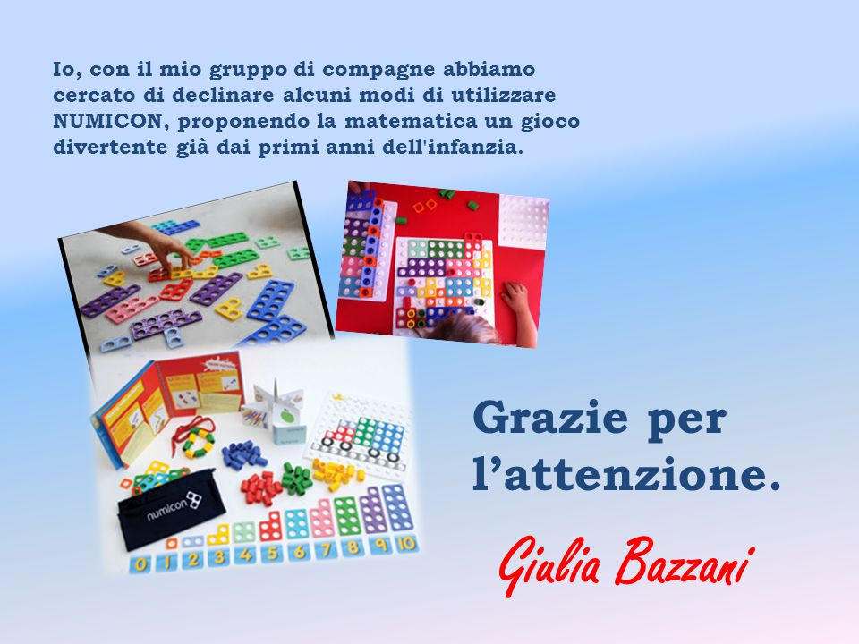 Giulia Bazzani Grazie per l'attenzione.