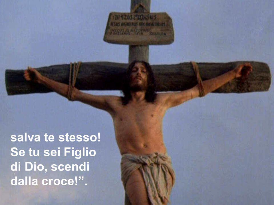 salva te stesso! Se tu sei Figlio di Dio, scendi dalla croce! .