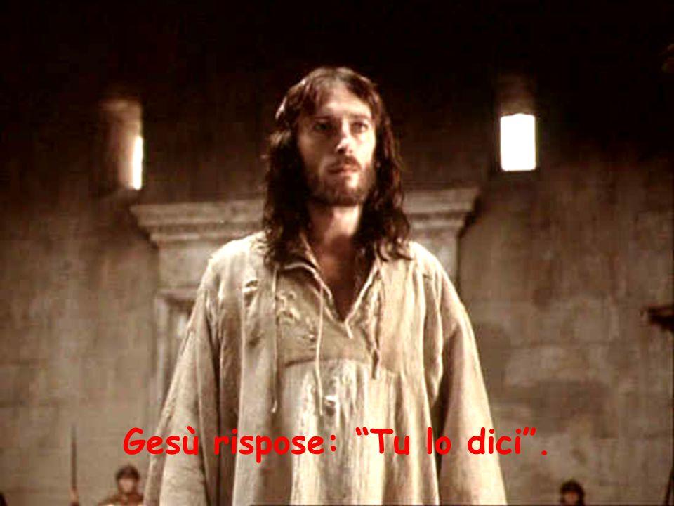 Gesù rispose: Tu lo dici .