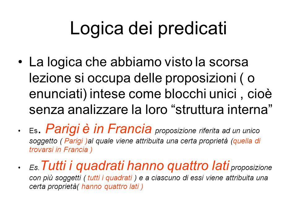 Logica dei predicati