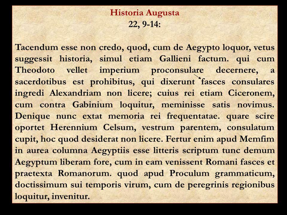 Historia Augusta 22, 9-14: