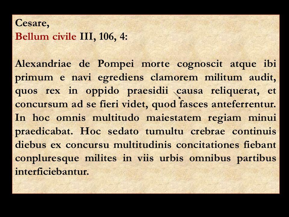 Cesare, Bellum civile III, 106, 4: