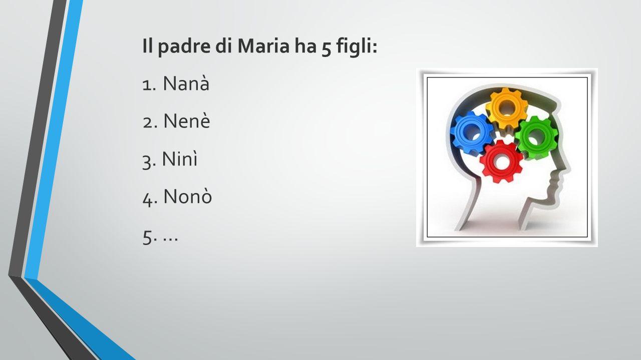 Il padre di Maria ha 5 figli: