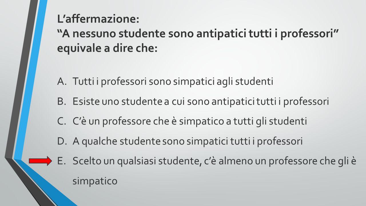 A nessuno studente sono antipatici tutti i professori