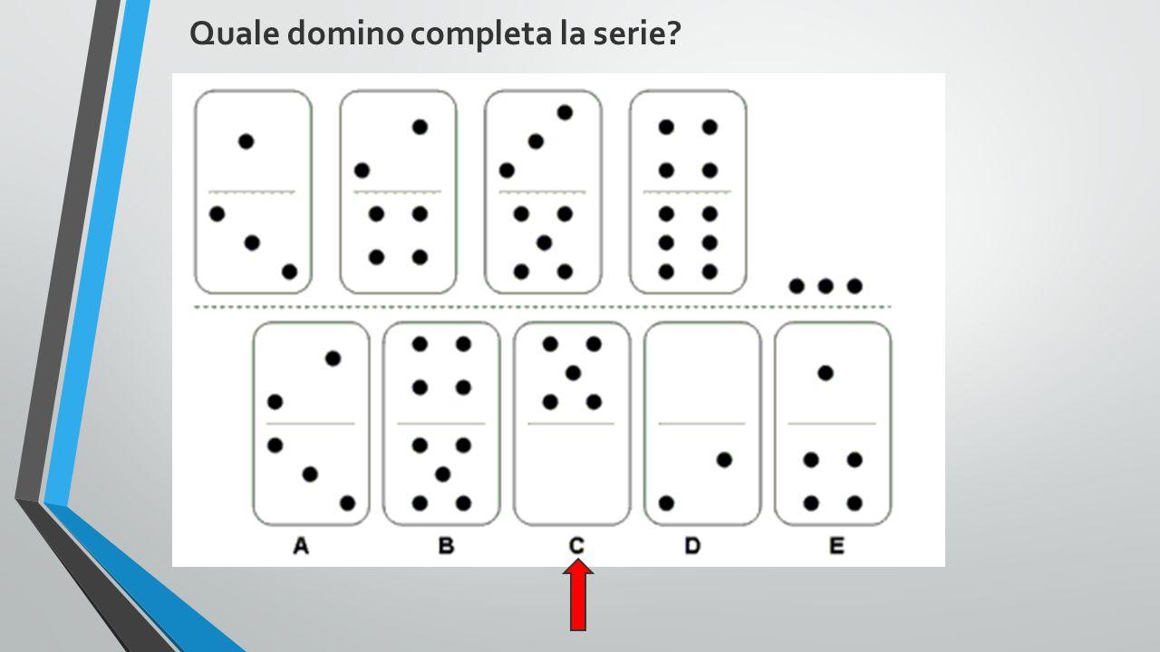 Quale domino completa la serie