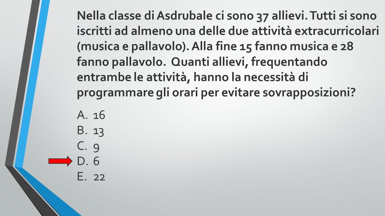 Nella classe di Asdrubale ci sono 37 allievi