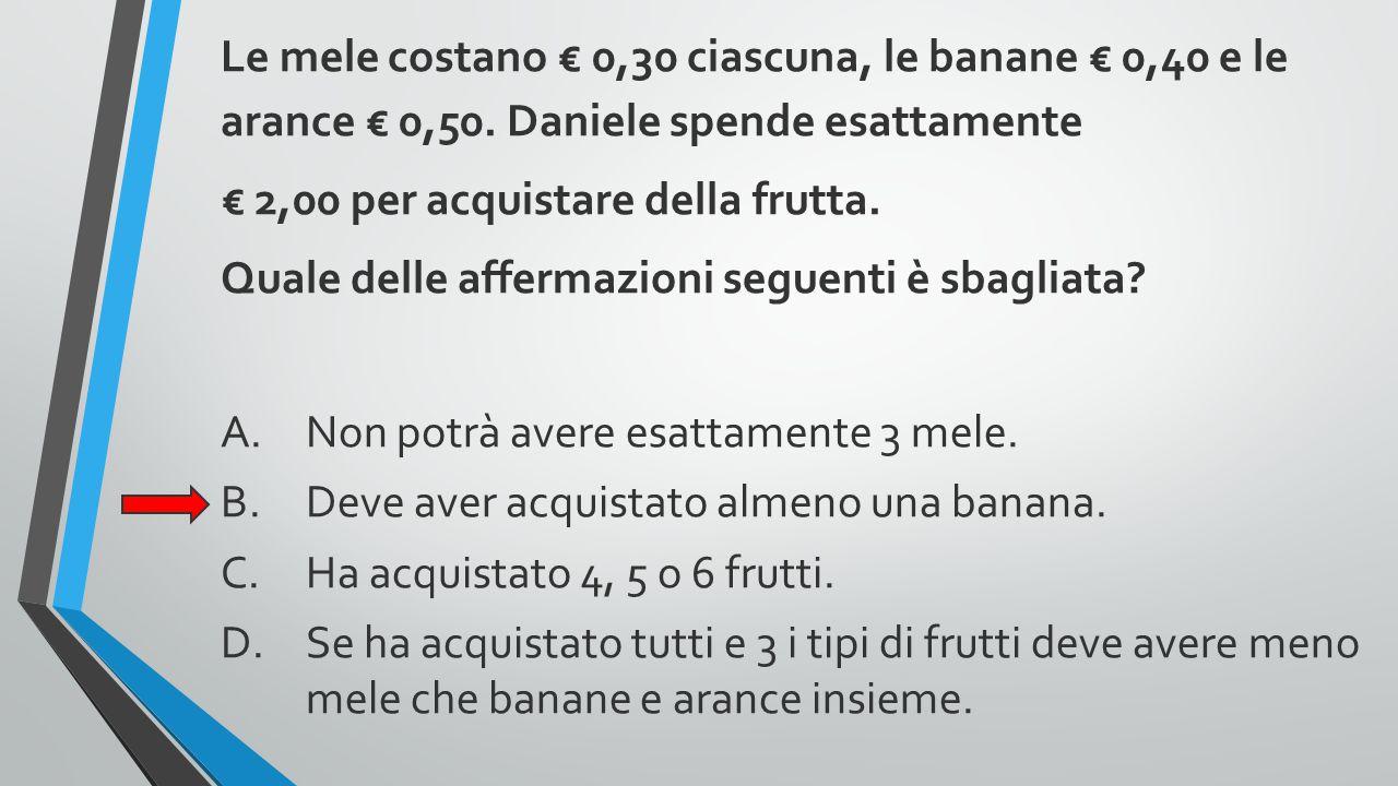 € 2,00 per acquistare della frutta.