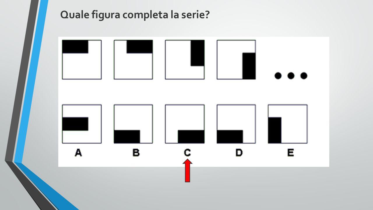 Quale figura completa la serie