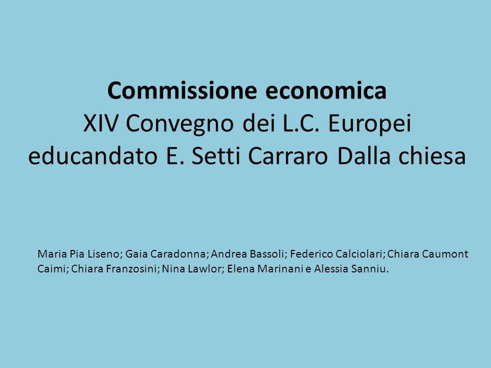 Commissione economica XIV Convegno dei L. C. Europei educandato E