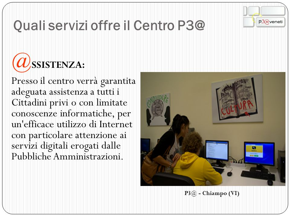 Quali servizi offre il Centro P3@