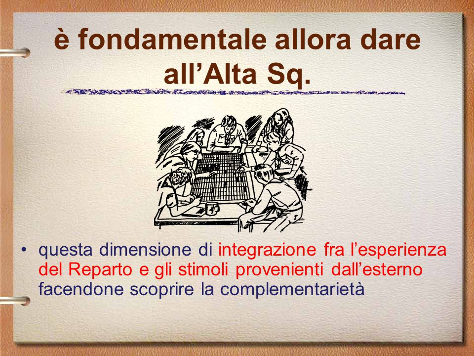 è fondamentale allora dare all'Alta Sq.