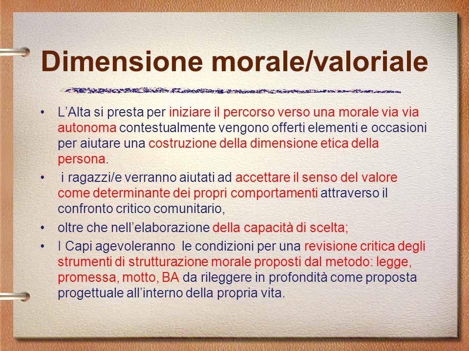 Dimensione morale/valoriale