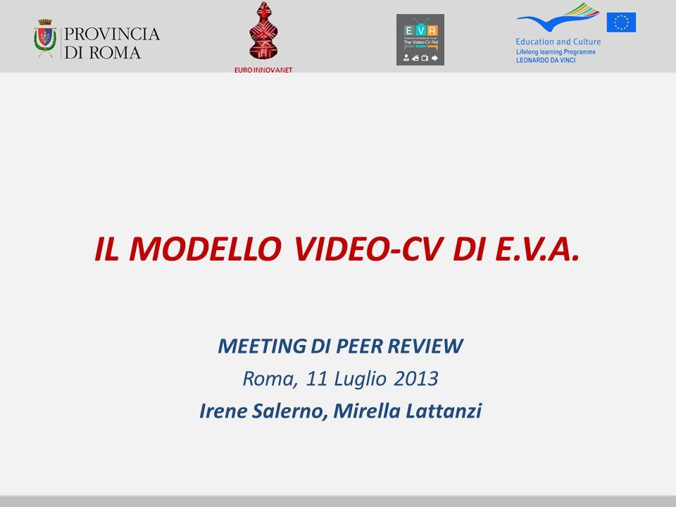IL MODELLO VIDEO-CV DI E.V.A.
