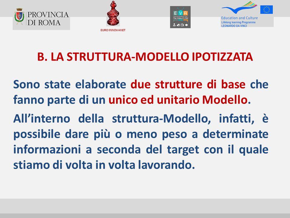 B. LA STRUTTURA-MODELLO IPOTIZZATA