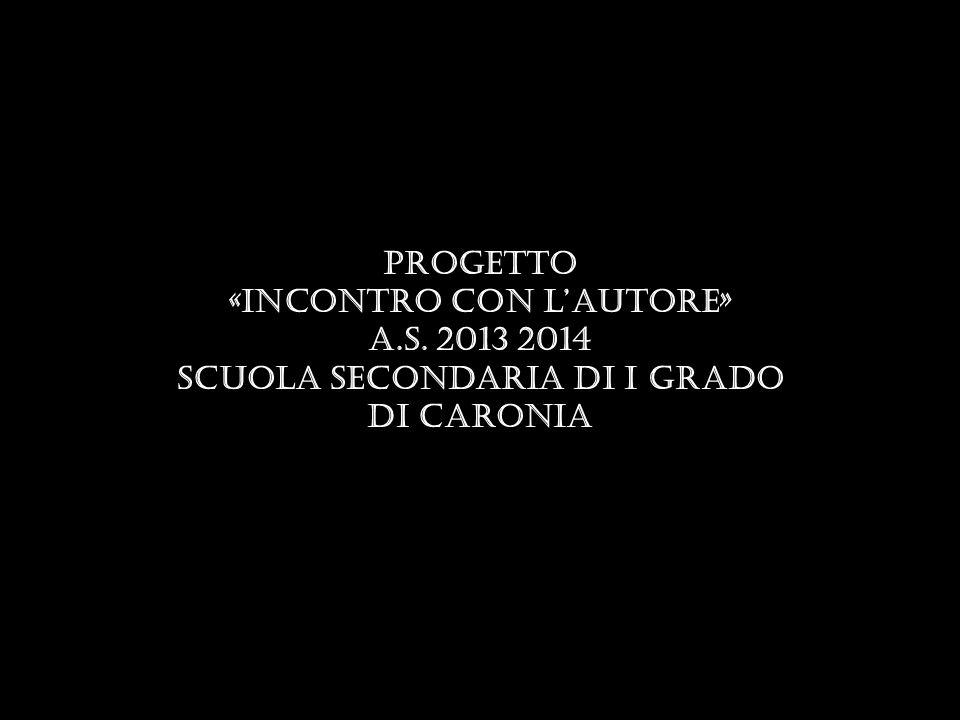 «Incontro con l'autore» Scuola secondaria di I grado di Caronia
