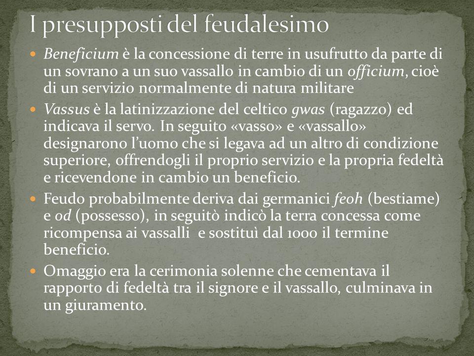 I presupposti del feudalesimo