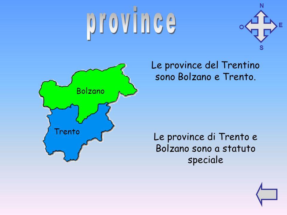 province Le province del Trentino sono Bolzano e Trento.