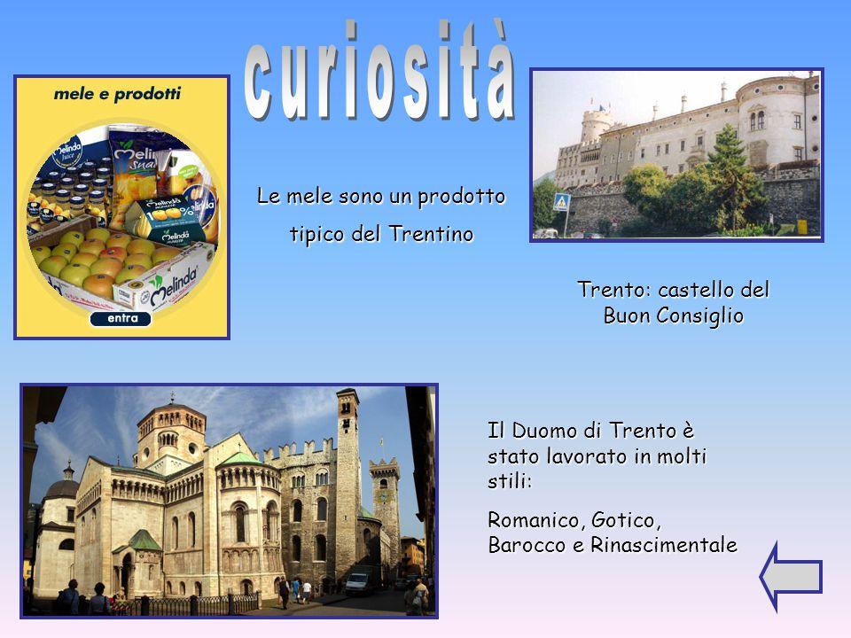 curiosità Le mele sono un prodotto tipico del Trentino