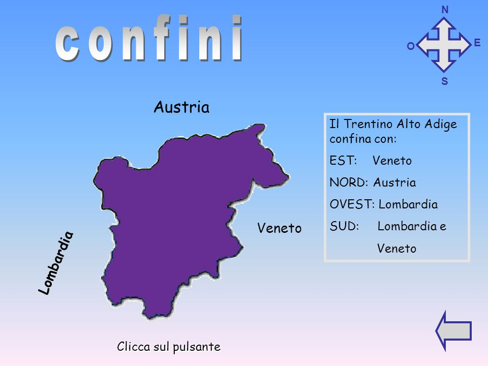 confini Austria Veneto Lombardia Il Trentino Alto Adige confina con: