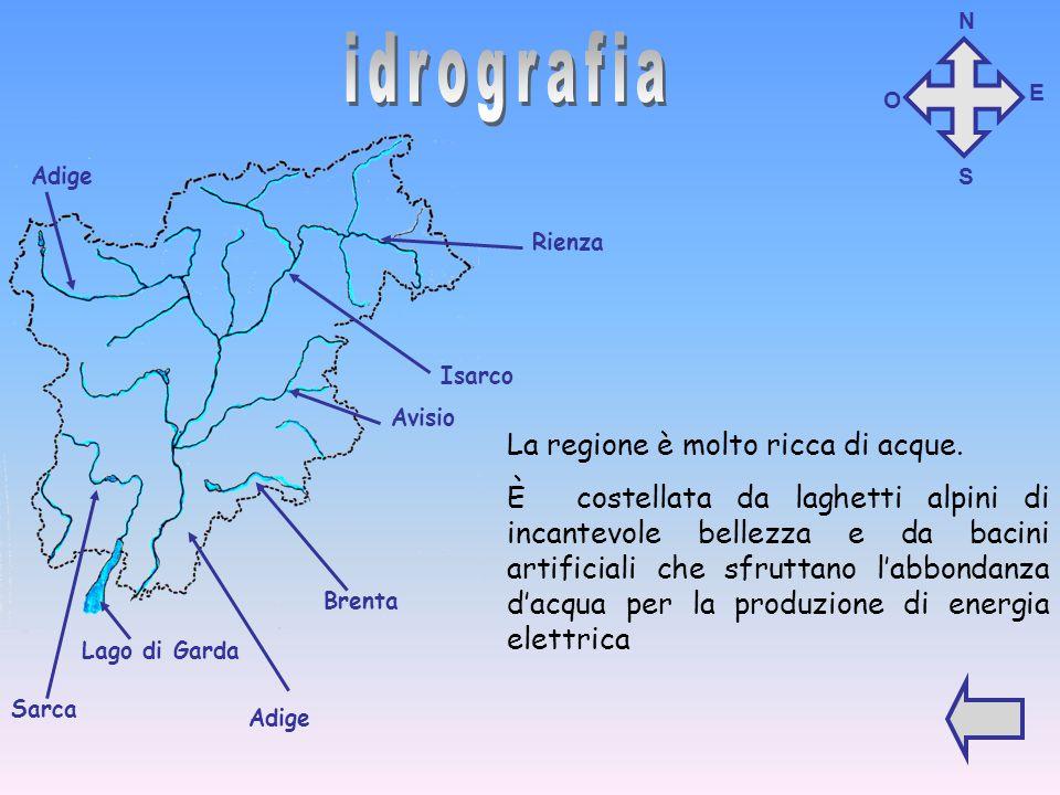 idrografia La regione è molto ricca di acque.