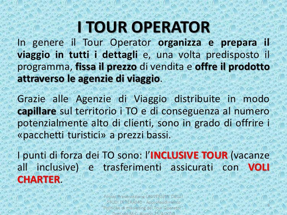 I TOUR OPERATOR
