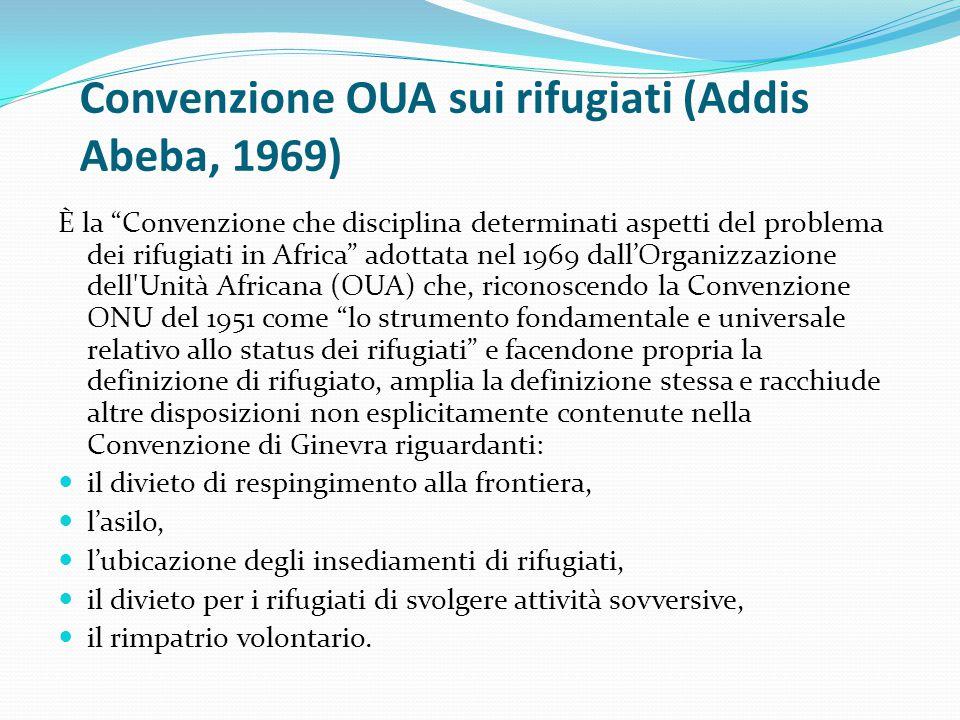 Convenzione OUA sui rifugiati (Addis Abeba, 1969)