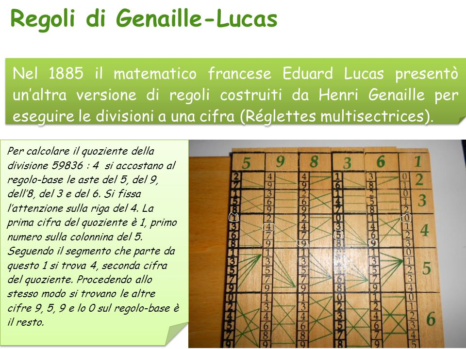Regoli di Genaille-Lucas