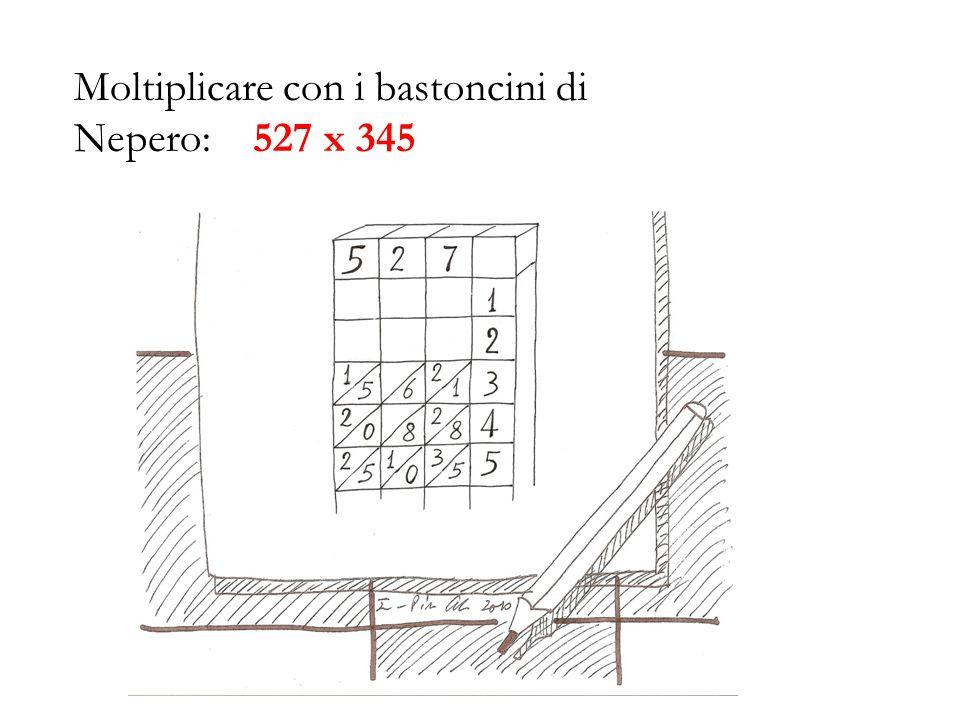 Moltiplicare con i bastoncini di Nepero: 527 x 345