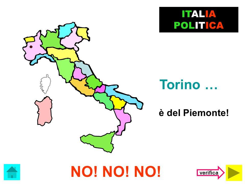 ITALIA POLITICA Torino … è del Piemonte! NO! NO! NO! verifica