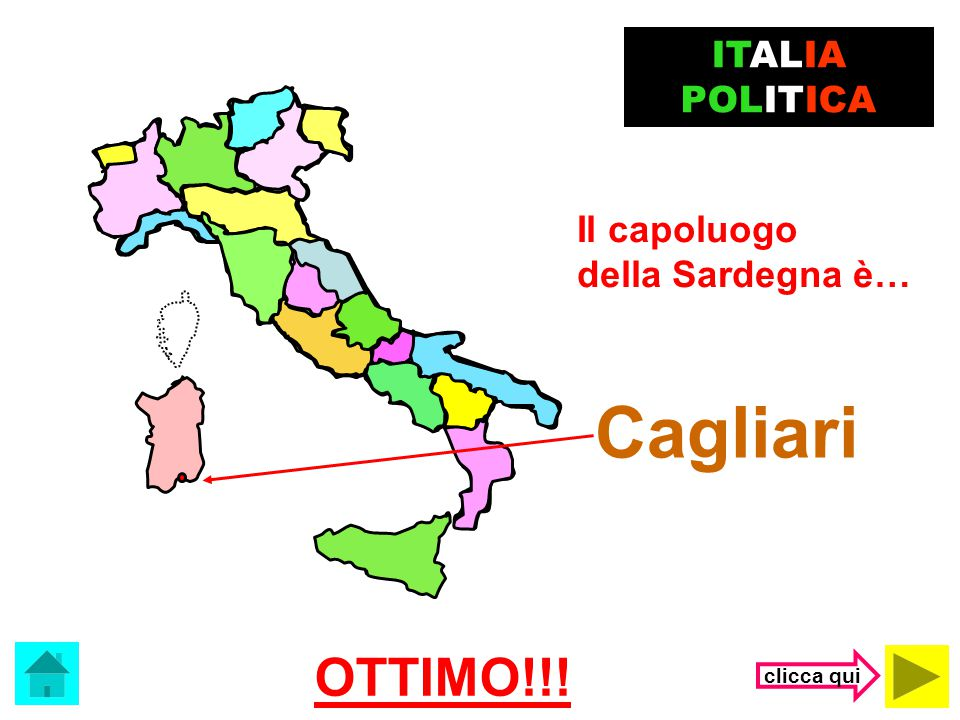 Cagliari OTTIMO!!! ITALIA POLITICA Il capoluogo della Sardegna è…