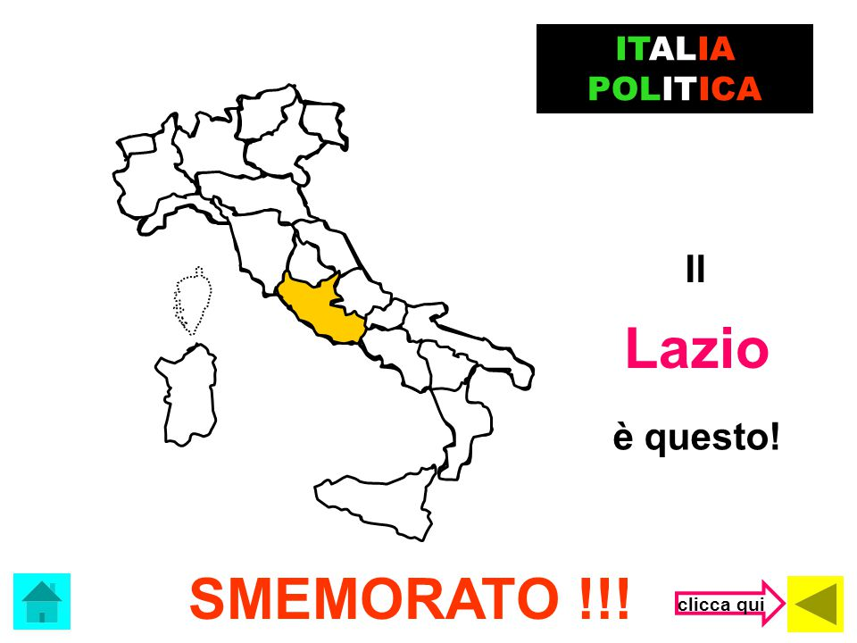 ITALIA POLITICA Il Lazio è questo! SMEMORATO !!! clicca qui