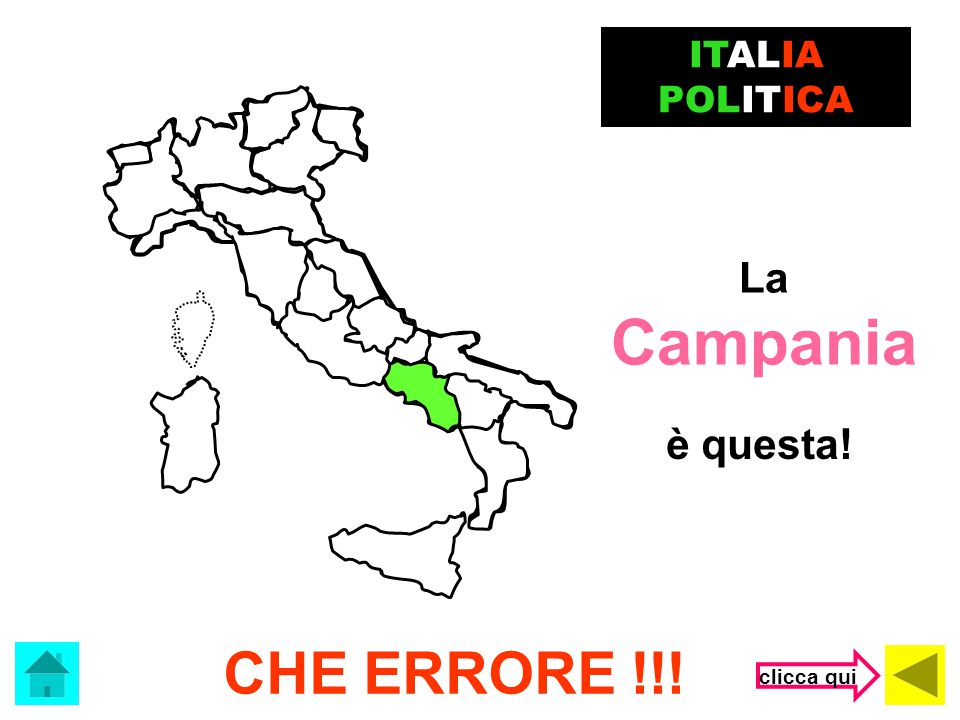 ITALIA POLITICA La Campania è questa! CHE ERRORE !!! clicca qui