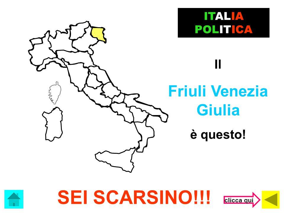 SEI SCARSINO!!! Friuli Venezia Giulia Il è questo! ITALIA POLITICA