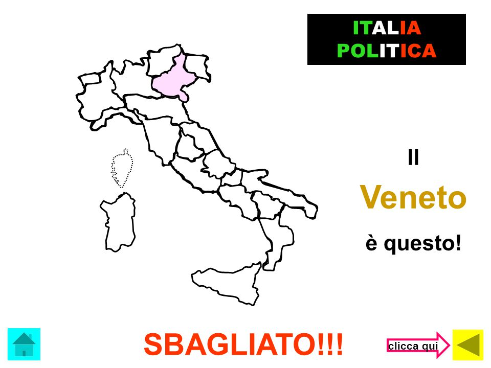 ITALIA POLITICA Il Veneto è questo! SBAGLIATO!!! clicca qui
