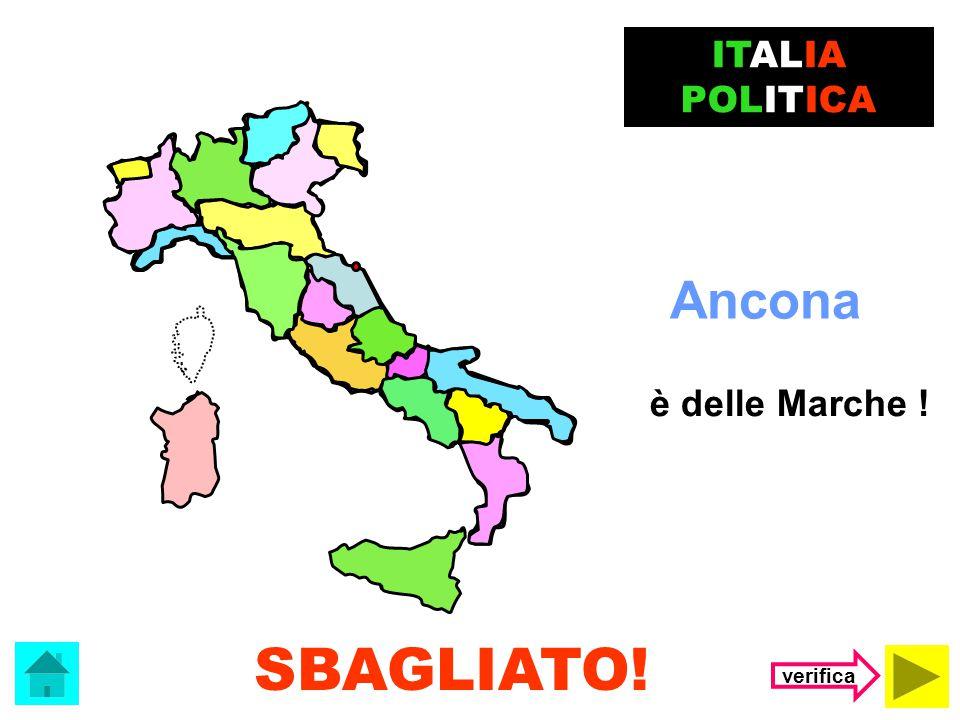ITALIA POLITICA Ancona è delle Marche ! SBAGLIATO! verifica