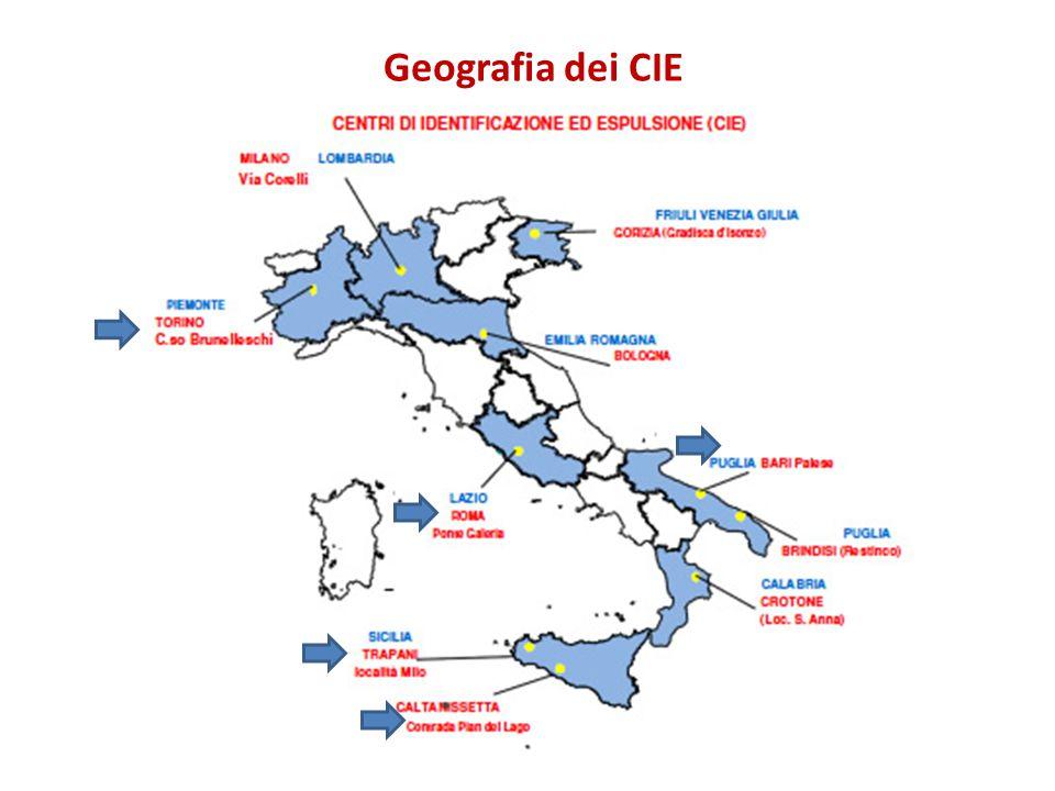 Geografia dei CIE