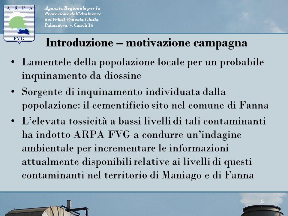 Introduzione – motivazione campagna