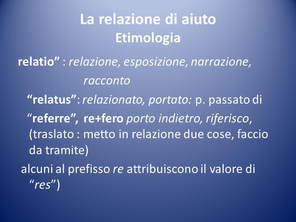 La relazione di aiuto Etimologia