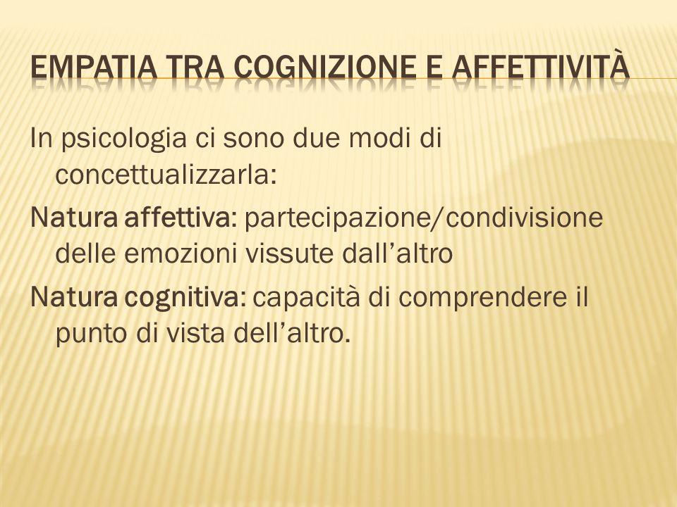 Empatia tra cognizione e affettività