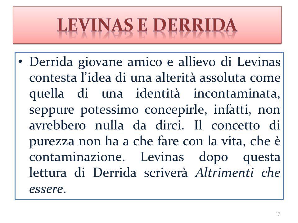 Levinas e Derrida