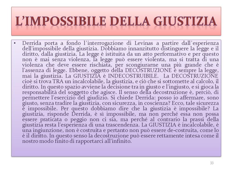 L'impossibile della giustizia