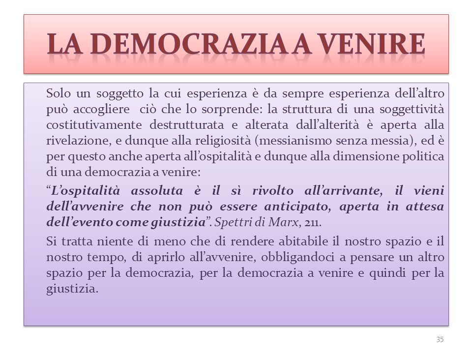 la democrazia a venire