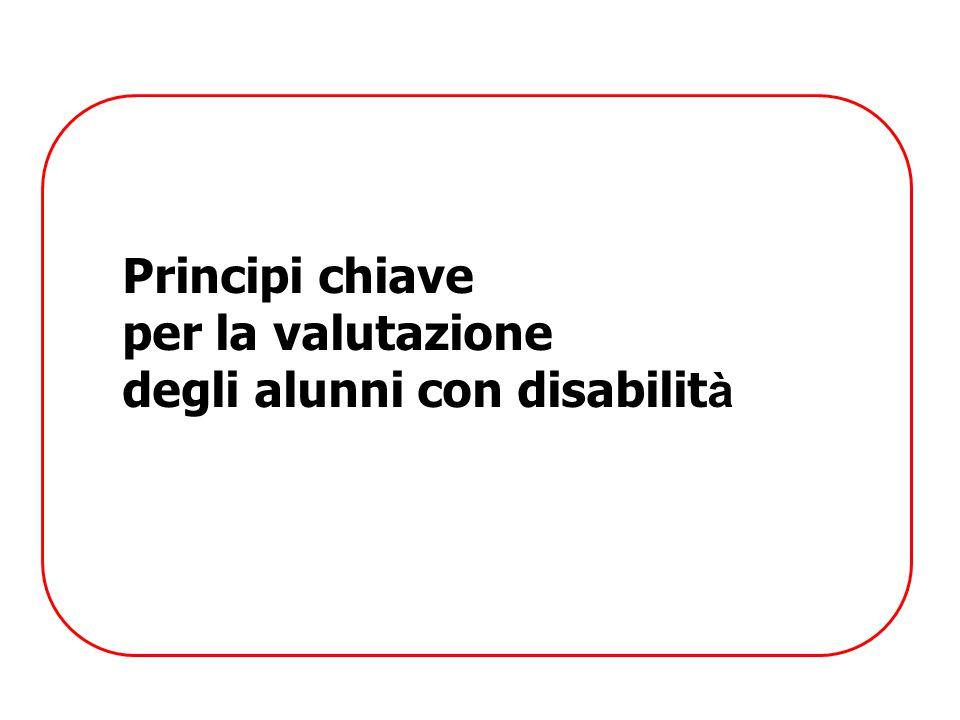 Principi chiave per la valutazione degli alunni con disabilità