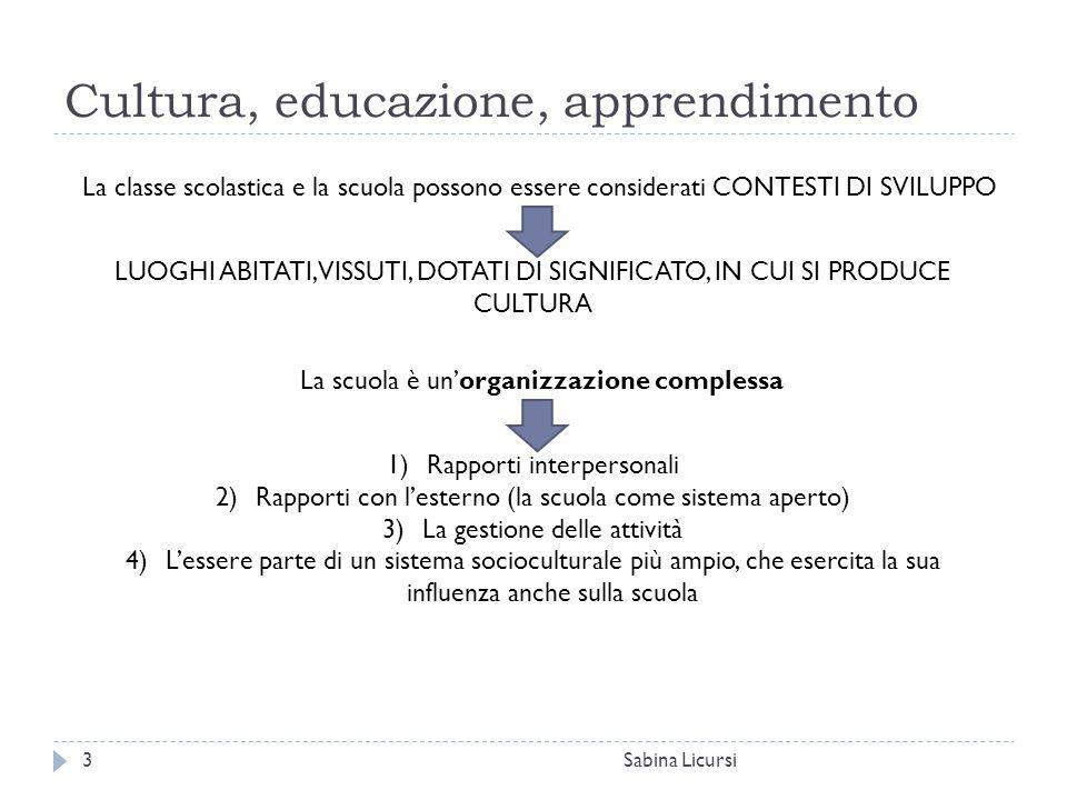 Cultura, educazione, apprendimento