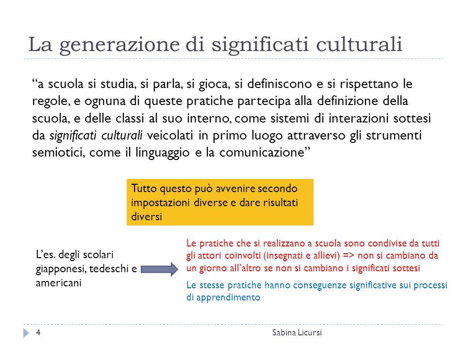 La generazione di significati culturali